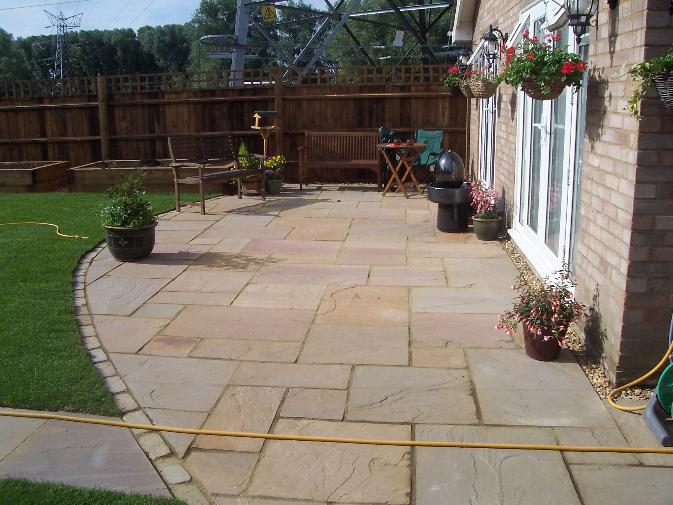 Boyde landscapes bedford block paving and driveways for Paved garden designs ideas